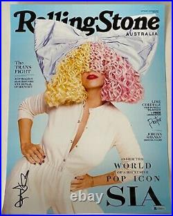 Sia Furler Signed Autographed 11x17 Rolling Stone Poster Photo Print Beckett COA