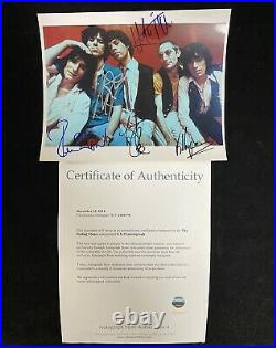 Signed Autographed 8x10 Rolling Stones Mick Jagger Photo Picture with COA