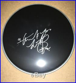 Signed Charlie Watts 10 Black Drum Head Rare The Rolling Rare Jagger Richards