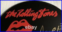 Signed Charlie Watts The Rolling Stones 10 Inch Drum Head Rare Mick Jagger Angie