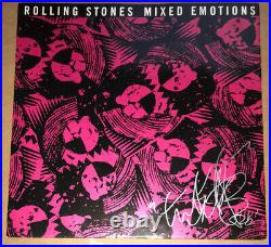 Signed Charlie Watts The Rolling Stones Mixed Emotions 12 Record Rare Jagger
