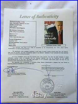 Signed Donald Trump Rolling Stones Magazine with Certificate of Authentication