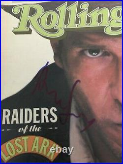 Signed HARRISON FORD Rolling Stone Magazine STAR WARS Autograph Beckett psa jsa