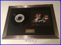 Signed/autographed Ronnie Wood Lucky Man Framed 7 Presentation. Rolling Stones