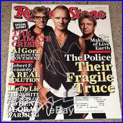 THE POLICE BAND SIGNED AUTOGRAPH ROLLING STONE MAGAZINE STING +2 withPROOF