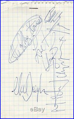THE ROLLING STONES (1970) AUTOGRAPHS Jagger, Watts, Wyman, Taylor