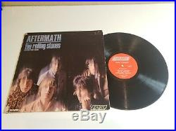 THE ROLLING STONES AFTERMATH VINYL LP autographed BY KEITH RICHARDS MICK JAGGE