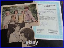 THE ROLLING STONES AUTOGRAPHS FULL BAND 1960, s SET WITH BRIAN JONES