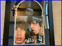 THE ROLLING STONES Black and Blue Album/signed autograph framed display COA
