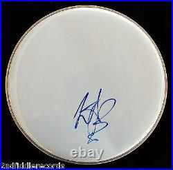 THE ROLLING STONES-CHARLIE WATTS- Autographed 12 DRUMHEAD-With PSA COA Letter