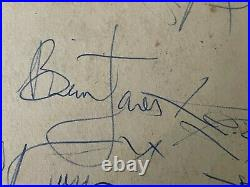 THE ROLLING STONES FULL SET OF AUTOGRAPHS. 24th DECEMBER 1963 LEEK TOWN HALL