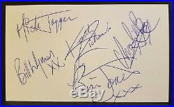THE ROLLING STONES Original Autographs FULL BAND SIGNED Postcard - CIRCA 1968