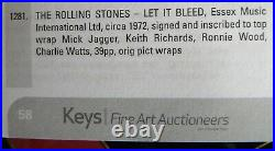 THE ROLLING STONES Signed Music Songbook AUTOGRAPH with CERT/Auction Catalogue