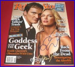 Tarantino & Thurman Signed 4/29/04 Rolling Stone Magazine B Autograph Coa Smudge