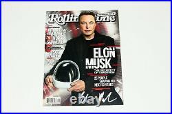 Tesla Spacex Founder Elon Musk Signed Rolling Stone Magazine Beckett Coa Doge