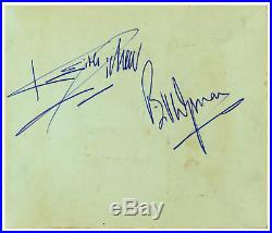 The Rolling Stones 1960s Signed Autograph Book Pages (UK)