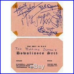 The Rolling Stones 1963 Autographed Business Card (UK)