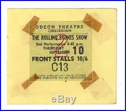 The Rolling Stones 1964 Ticket Stub At The Odeon Theatre, Cheltenham