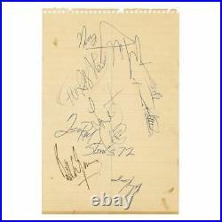 The Rolling Stones 1972 USA Tour Autographs (USA)