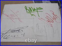 The Rolling Stones AUTOGRAPHS Signed Jagger, Wyman, Watts, Richards, Jones