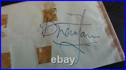 The Rolling Stones Autograph Brian Jones Signed Autograph Book Page MID 1960's