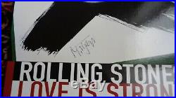 The Rolling Stones Autograph Mick Jagger Signed Love Is Strong Ad Board Epperson