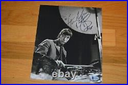 The Rolling Stones Charlie Watts Vintage B/W 8x10 Autographed Photo Beckett COA