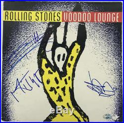 The Rolling Stones Jagger Stones Watts Signed Autographed Album LP PSA/DNA