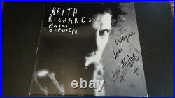 The Rolling Stones Keith Richards Autograph A Signed Main Offender Lp. Epperson