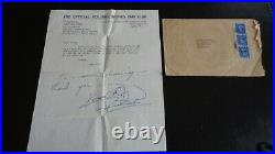 The Rolling Stones Keith Richards Autograph Signed Fan Club Letter Circa 1964