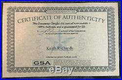 The Rolling Stones Keith Richards Signed Autographed Guitar (GSA COA)