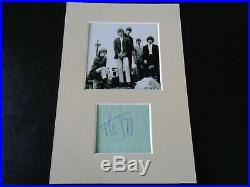 The Rolling Stones Mick Jagger Autograph Signed Page 1964. A Great Signature