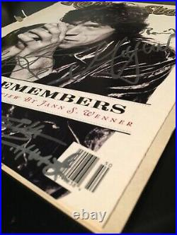 The Rolling Stones Mick Jagger signed autographs Rolling Stone