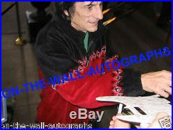 The Rolling Stones Ron Wood Hand Signed Autographed 11x14 Photo! With Proof+coa