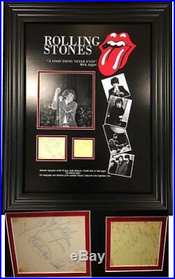 The Rolling Stones SIGNED AUTOGRAPHS Jagger Wyman Watts Richards AFTAL UACC RD