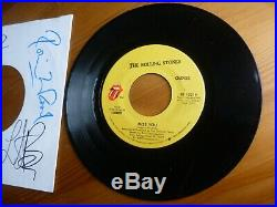 The Rolling Stones Signed Autographed Memorabilia Record Tour Jagger / Richards