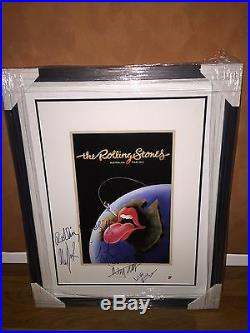 The Rolling Stones Signed Litho Mick Jagger Keith Richards Autograph Psa /DNA