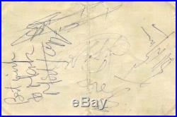 The Rolling Stones autographs, signed card mounted