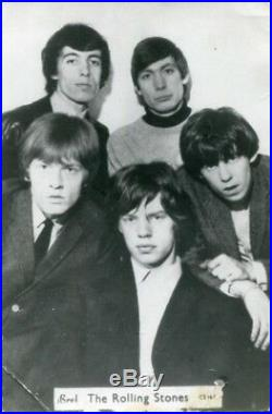 The Rolling Stones autographs, signed promotion card & photo signed verso mounte