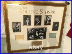 The Rolling Stones signed authentic autograph very rare with Brian Jones, Mic