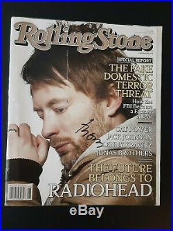 Thom Yorke Radiohead Signed Autographed February 2008 Rolling Stone Magazine
