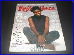 Tracy Chapman Psa Dna Signed Coa Autographed Rolling Stone Inscribed