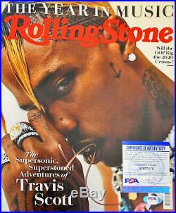 Travis Scott Autographed SIGNED Rare RollingStones Magazine PSA/DNA Astro World