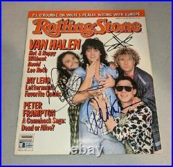VAN HALEN signed autographed ROLLING STONE MAGAZINE BECKETT LOA (BAS) NO EDDIE