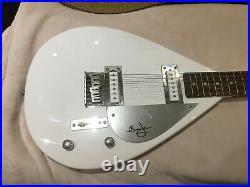 Vox teardrop brian jones hutchins autographed guitar