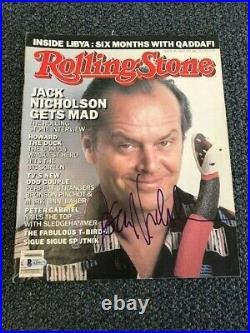 W@W Jack Nicholson Signed Rolling Stone Magazine Autographed Auto BAS not PSA #1