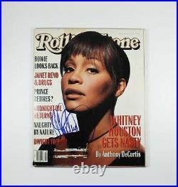 Whitney Houston Rolling Stone Autographed Signed Magazine Certified JSA COA